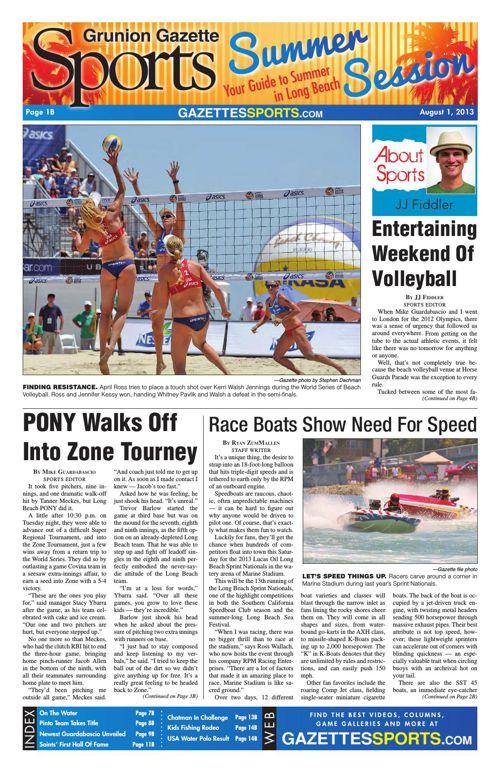 Gazette Sports | August 1, 2013