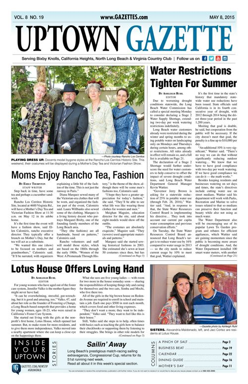 Uptown Gazette  |  May 8, 2015