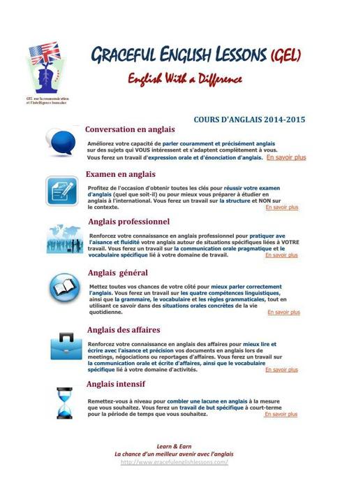 GEL Formules et tarifs 2014-15
