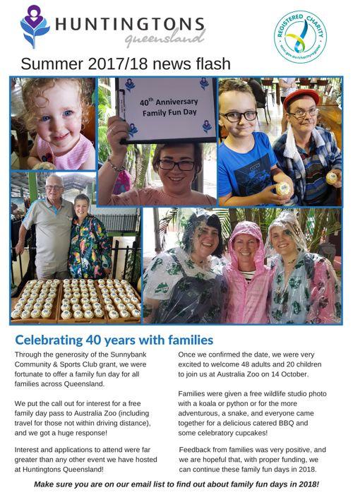 Huntingtons Queensland Summer 2017 News Flash - FINAL