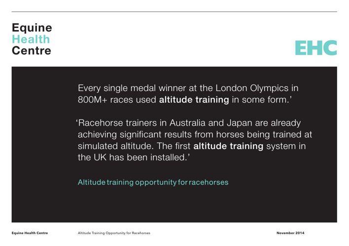 EHC - Altitude Training System