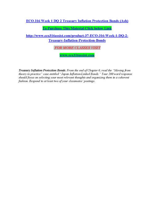 ECO 316 ASSIST Expect Success eco316assistdotcom
