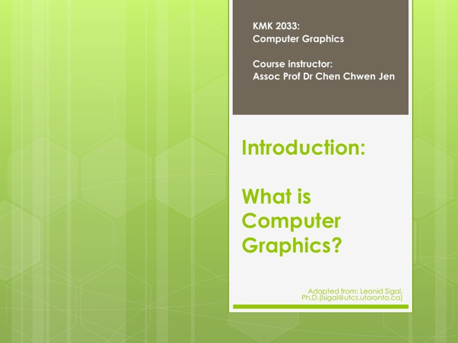 Computer Graphics Applications, Linear Algebra, Scan Conversion