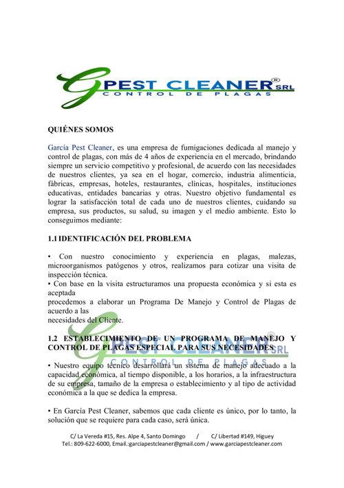 Folleto Garcia Pest Cleaner