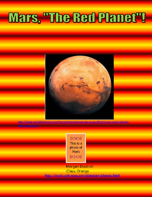 "Mars, ""The Red Planet"""