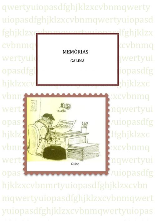 MEMÓRIAS GALINA