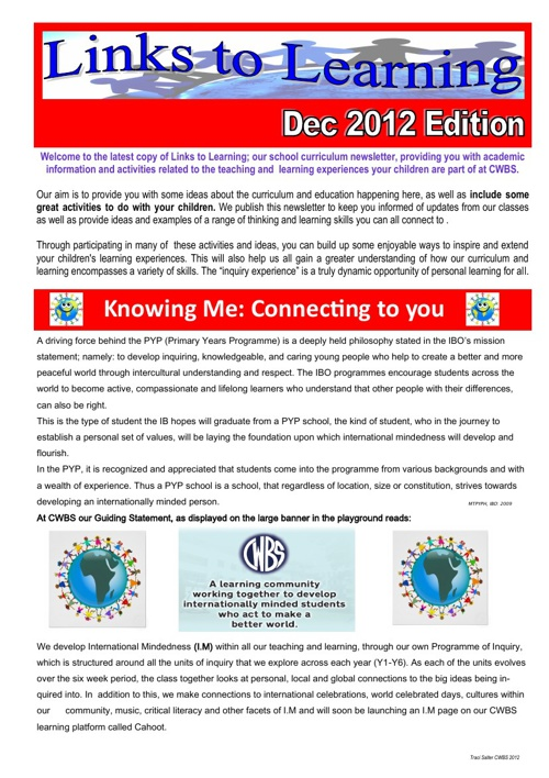 Links to Learning December 2012