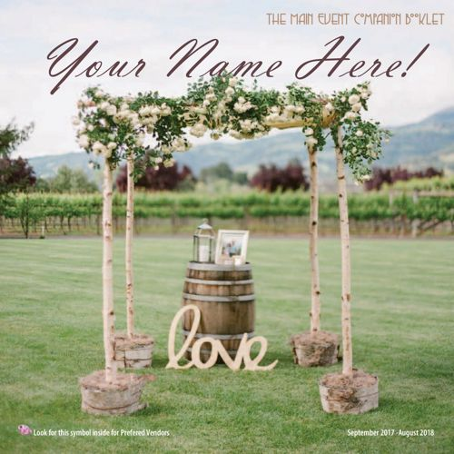 The Main Event Vineyard Sample Companion Booklet