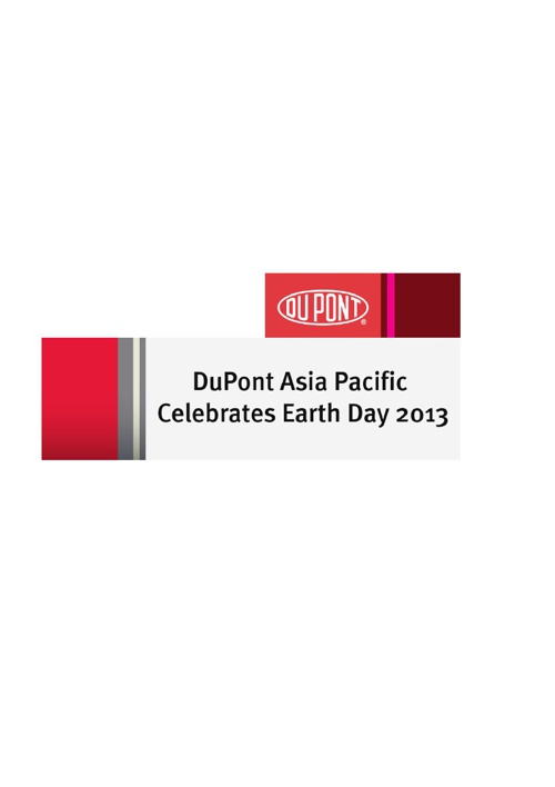 DuPont Asia Pacific Earth Day 2013