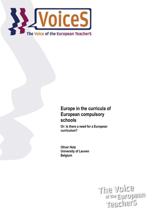 Europe in the curricula of European compulsory schools - Or: Is