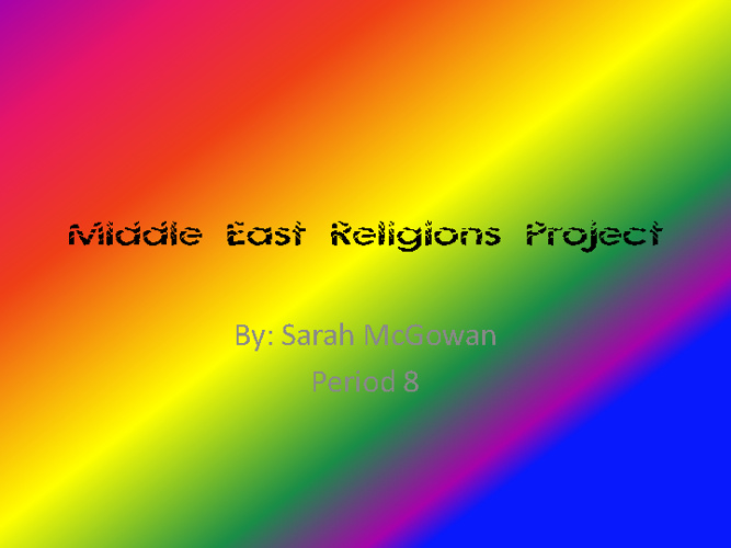 Middle East Religiond Flipbook Project