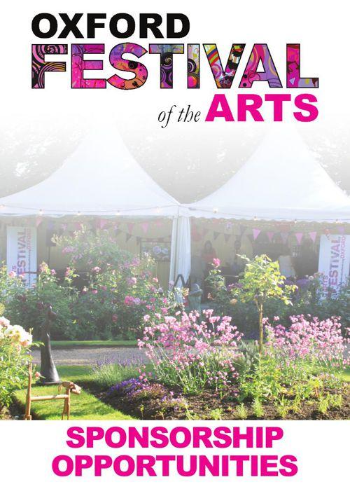 Oxford Festival of the Arts Sponsorship Pack 2016