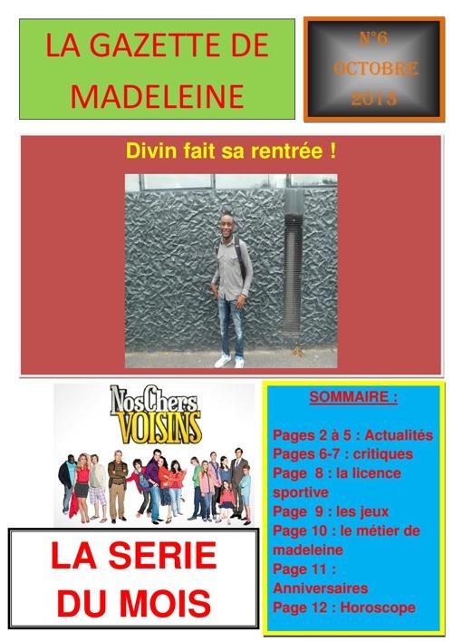 gazette de madeleine n°6