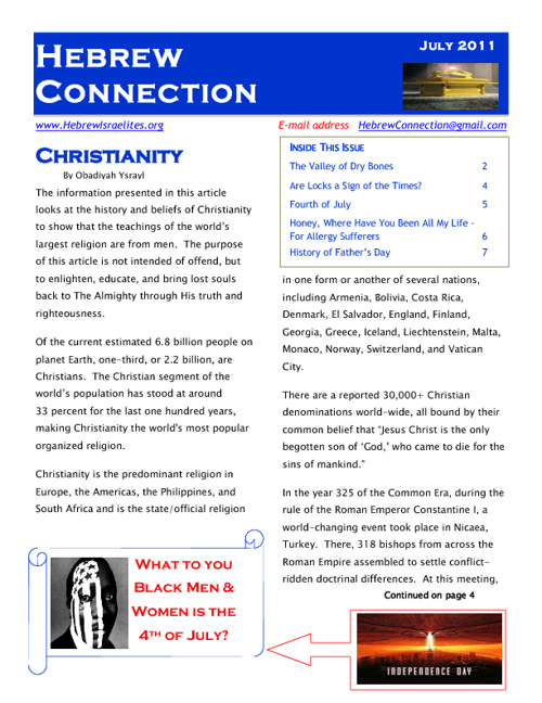 Hebrew Connections Newsletter - July 2011