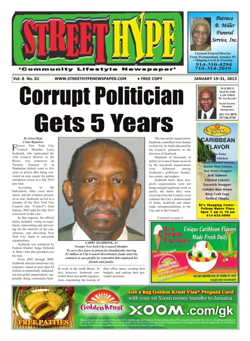 Street Hype Newspaper -- January 19-31, 2013