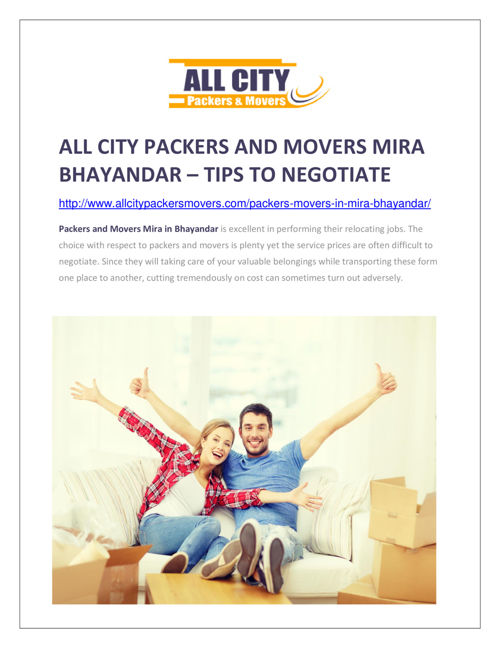 All City Packers and Movers Mira Bhayandar