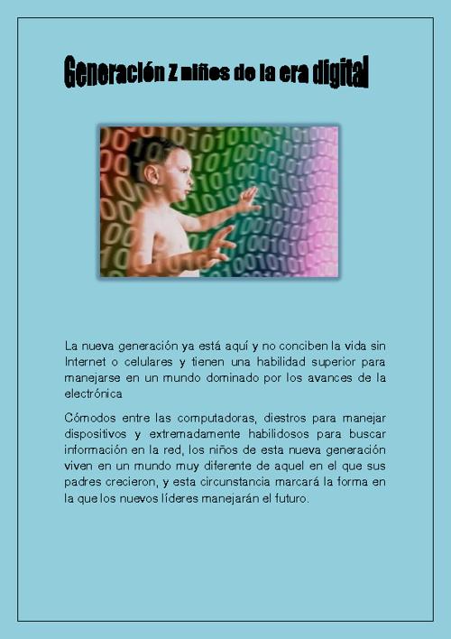 "Generacion Z ""La era digital"""