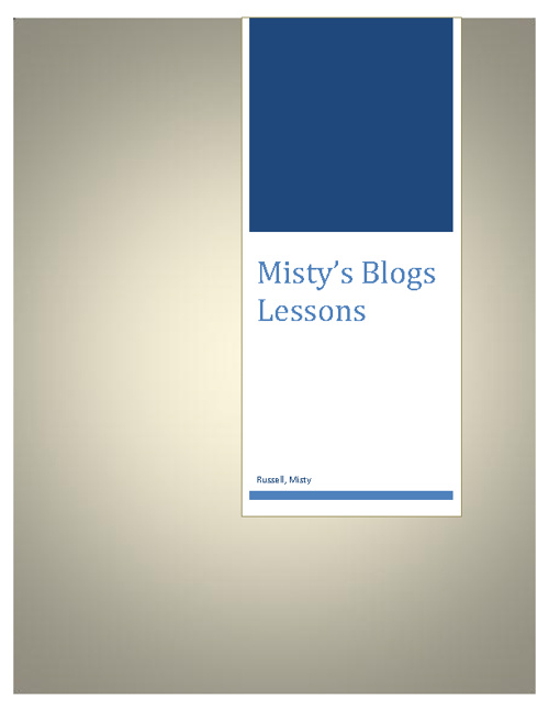 misty's blog lessons