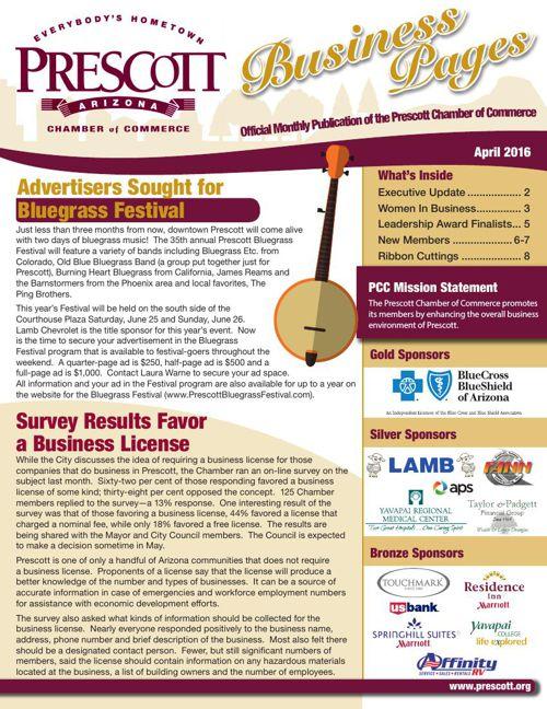 Prescott Chamber 4-16 Newsletter