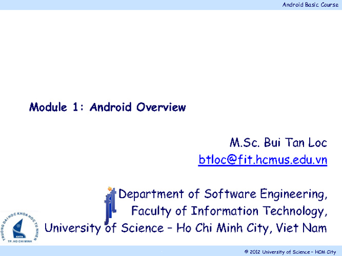 Android Module 1