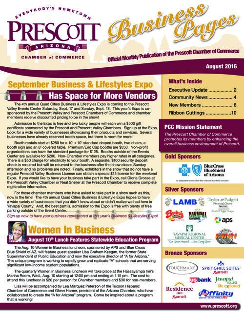 Prescott Chamber 8-16 Newsletter