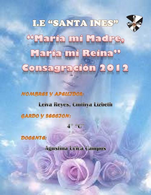 """Maria mi Madre, Maria mi Reina"""