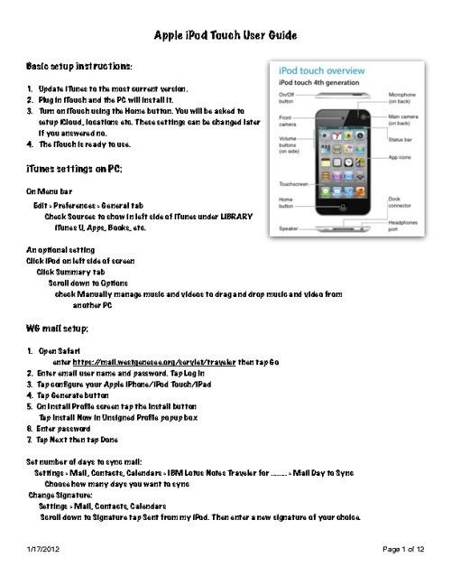 Apple iPod touch User Guide