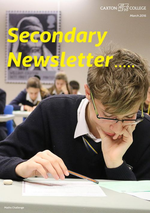 Secondary March Newsletter