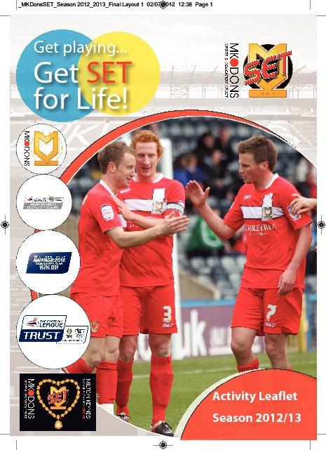 MK Dons SET Brochure Season 2012/13