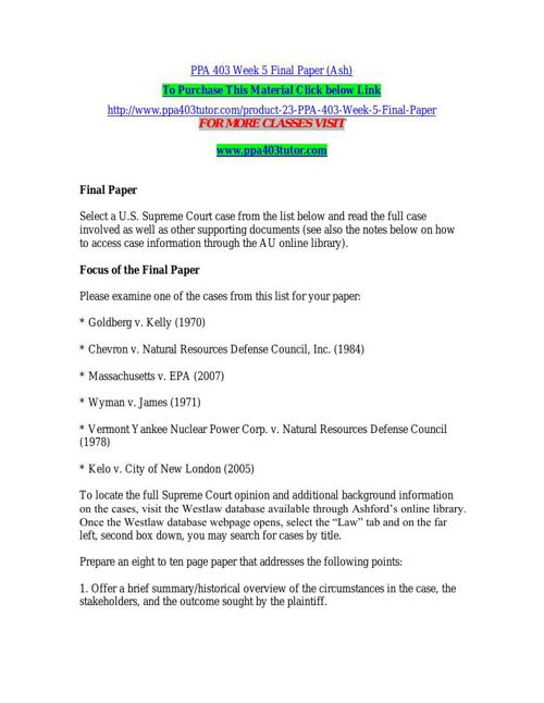 PPA 403 Week 5 Final Paper (Ash)