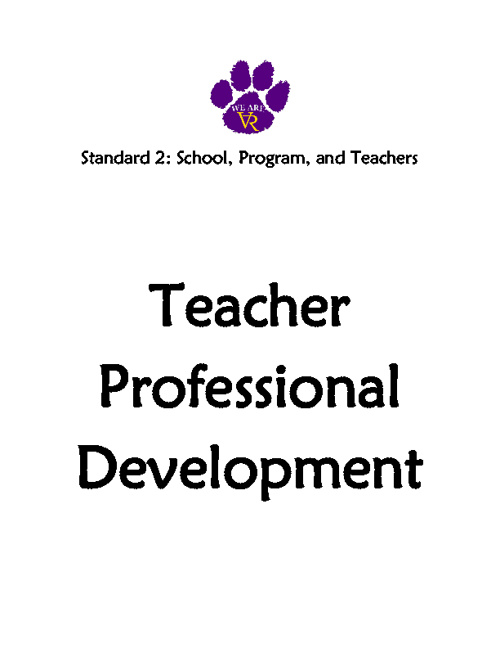 Standard 2: #16 Teacher Professional Development