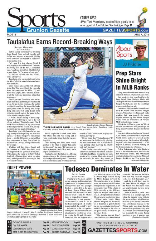 Gazette Sports | April 7, 2016