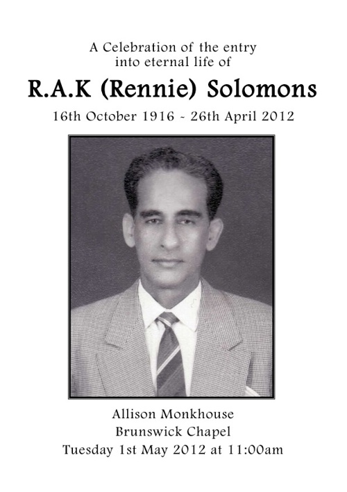 R.A.K (Rennie) Solomons