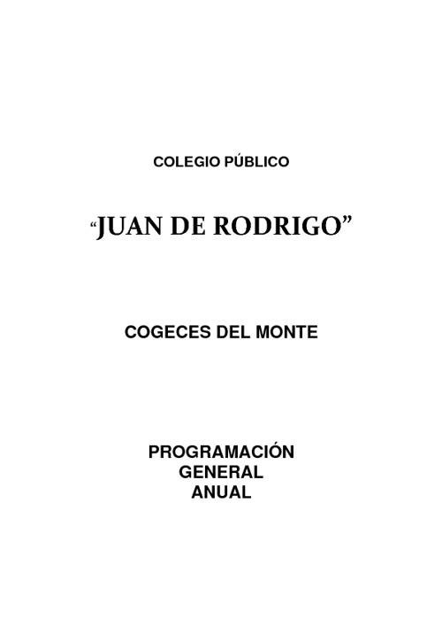 PROGRAMACIÓN GENERAL ANUAL JUAN DE RODRIGO