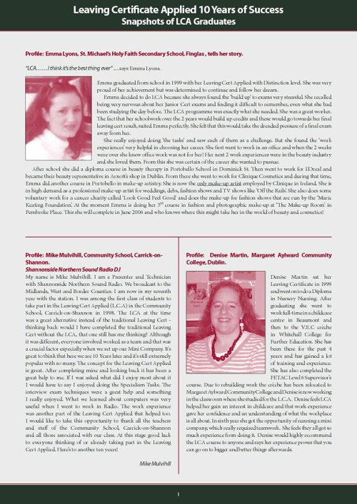 LCA Student Profiles