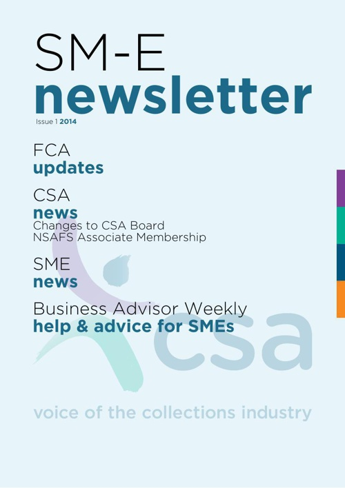 CSA SM-E Newsletter Issue 1 2014