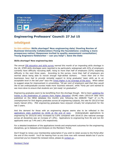 Engineering Professors' Council infoDigest 27 Jul 15