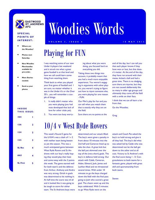 Woodies Words Week 4