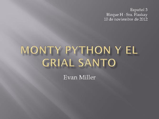 Monty Python y el Grial Santo