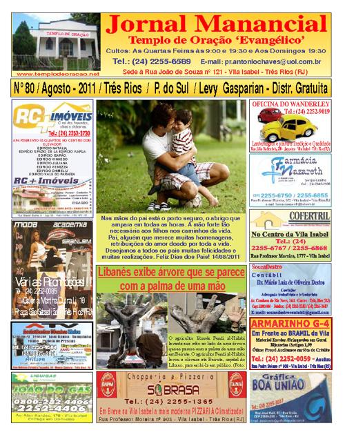Jornal Manancial - Agosto - 2011