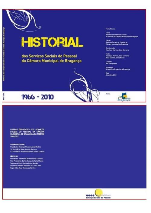 Historial dos Serviços Sociais do Pessoal da CMB