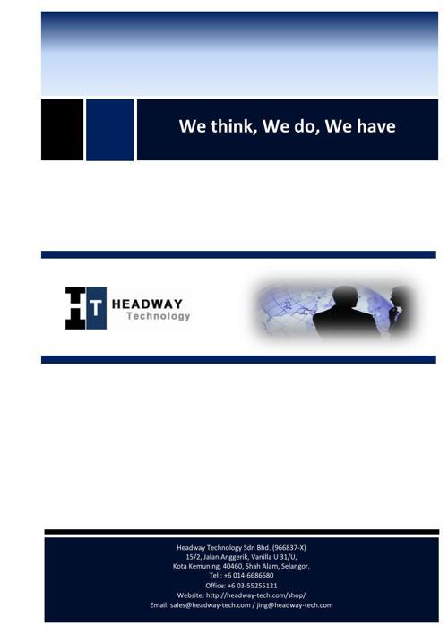HEADWAY TECHNOLOGY SDN BHD CATALOGUE