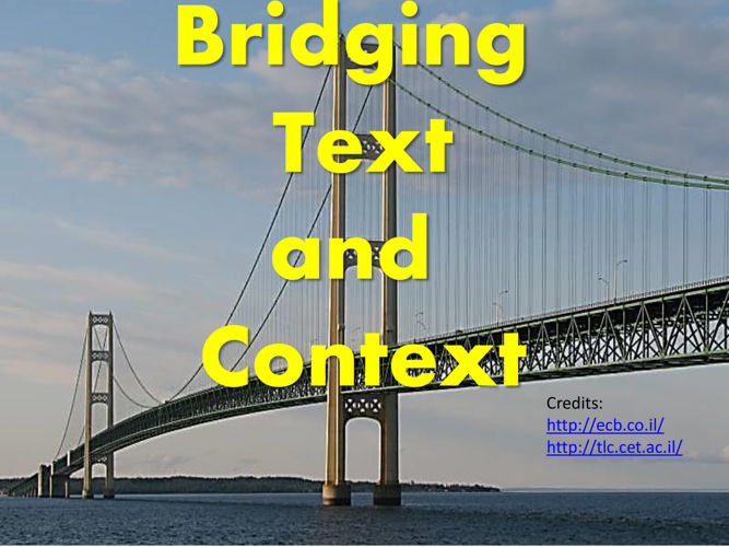Bridging Text and Context Task