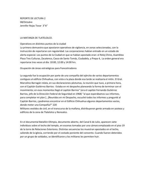 REPORTE DE LECTURA 2