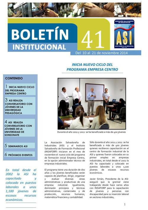 Boletín 41 ASI