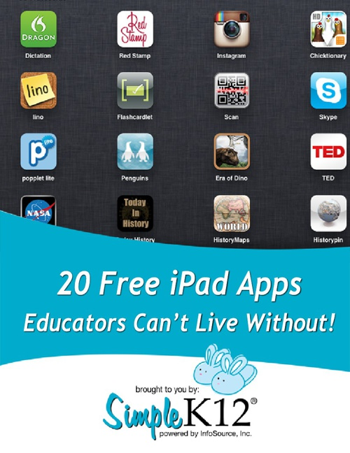 20 Free iPad Apps Educators Can't Live Without