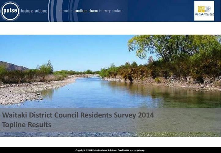 Waitaki District Council Residents Survey Report 2014