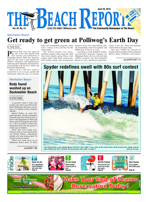 The Beach Reporter   April 28, 2016