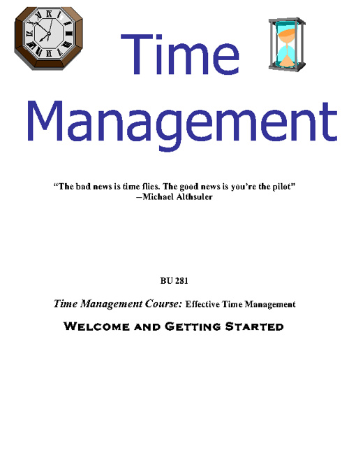Time Management Module 1 Workbook