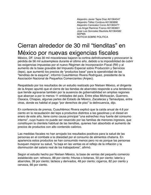"""Segunda Parte de la Revista """"Borrego Honesto"""" Proyecto Semestral"""
